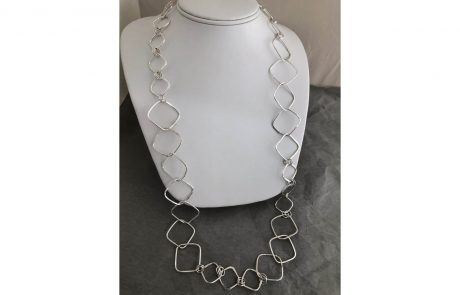 Textured Square Link Chain by Susan Hazer Designs