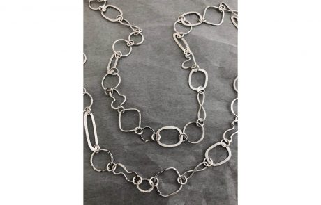 Textured Multi-Design Link Chain by Susan Hazer Designs
