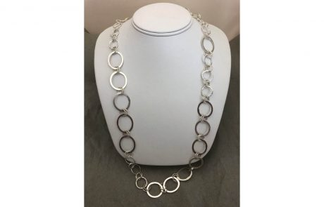 Hammered and Textured Circles Chain by Susan Hazer Designs