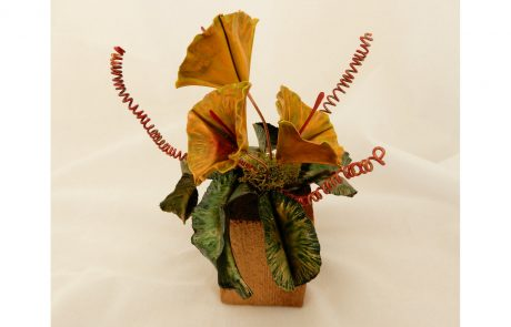 Yellow Bouquet Copper Sculpture by Susan Hazer Designs