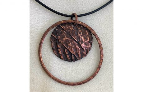 Corrugated Copper Dome Pendant by Susan Hazer Designs