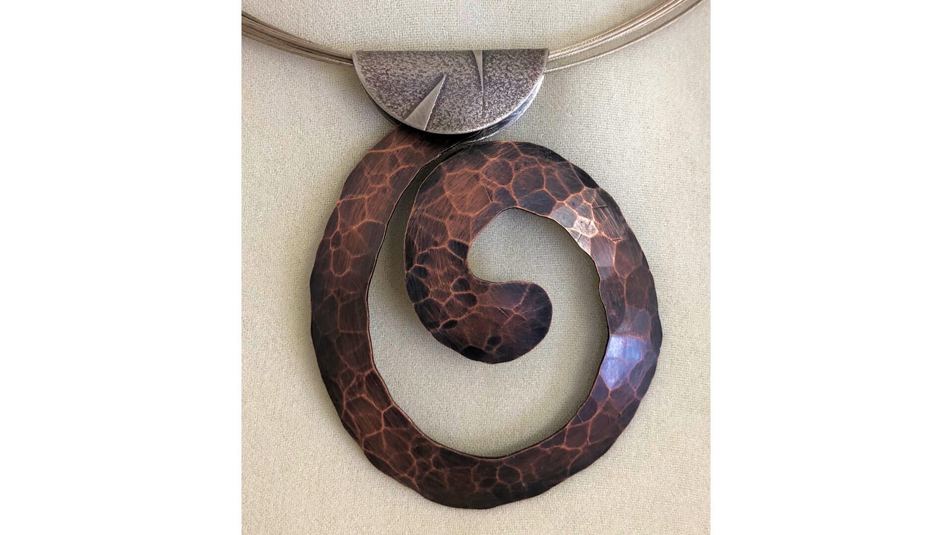 Copper Swirl Pendant by Susan Hazer Designs