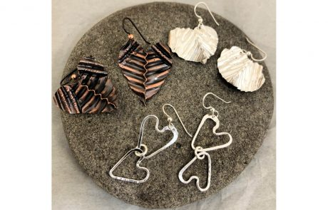 Trio of Heart Earrings by Susan Hazer Designs
