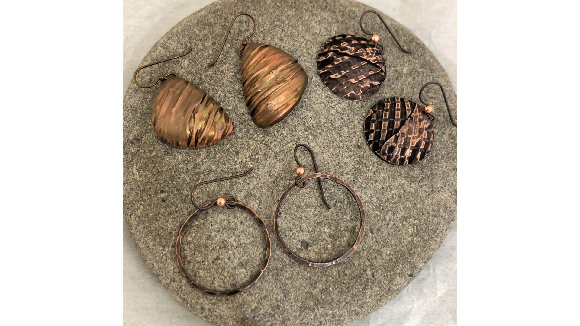 Copper Earrings by Susan Hazer Designs
