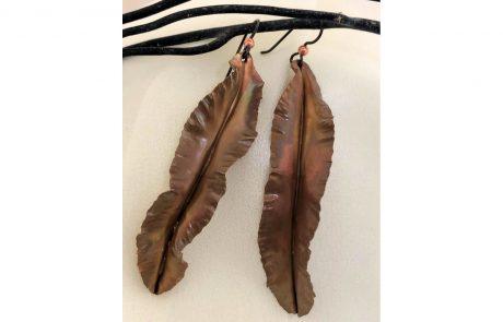 Copper Leaf Earrings by Susan Hazer Designs