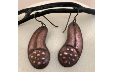 Copper Bean Earrings by Susan Hazer Designs