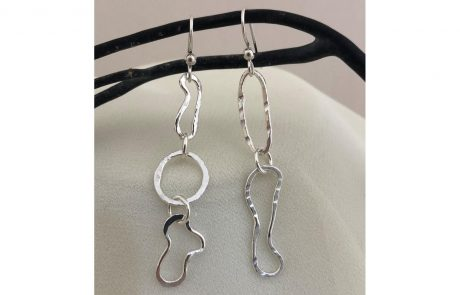Asymmetrical Delight Earrings by Susan Hazer Designs