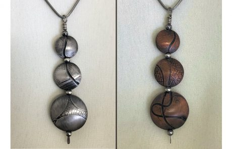 Hollow Form Triple Beads by Susan Hazer Designs