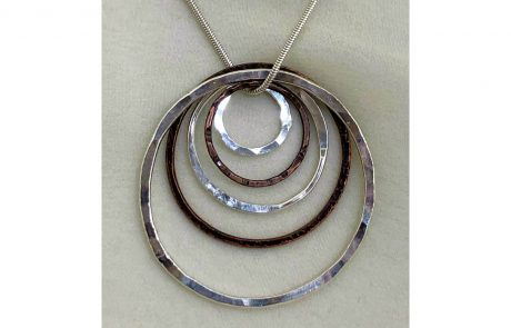 Copper and Silver Circles for Necklaces by Susan Hazer Designs