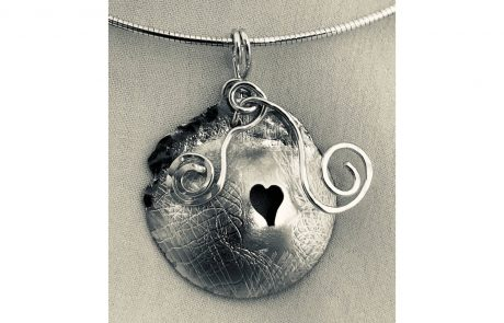 Silver Heart Pendant by Susan Hazer Designs