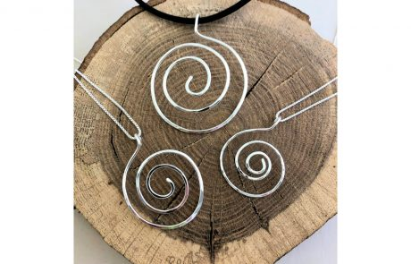 Sterling Silver Spiral Pendants by Susan Hazer Designs