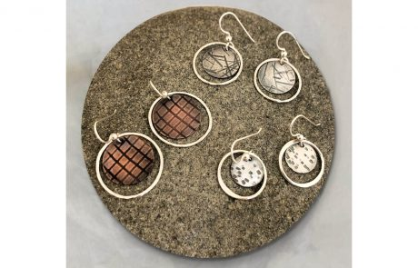 Circle and Disc Earrlings by Susan Hazer Designs