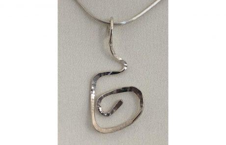 Swirl Silver Pendant by Susan Hazer Designs